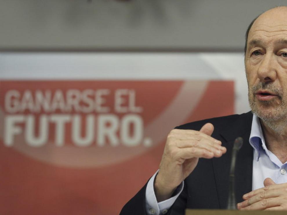 Rubalcaba ha puntualizado que el problema territorial de Cataluña no es el único