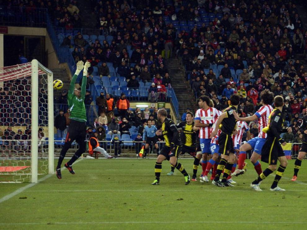 Imagen del primer gol del Atleti al Real Zaragoza