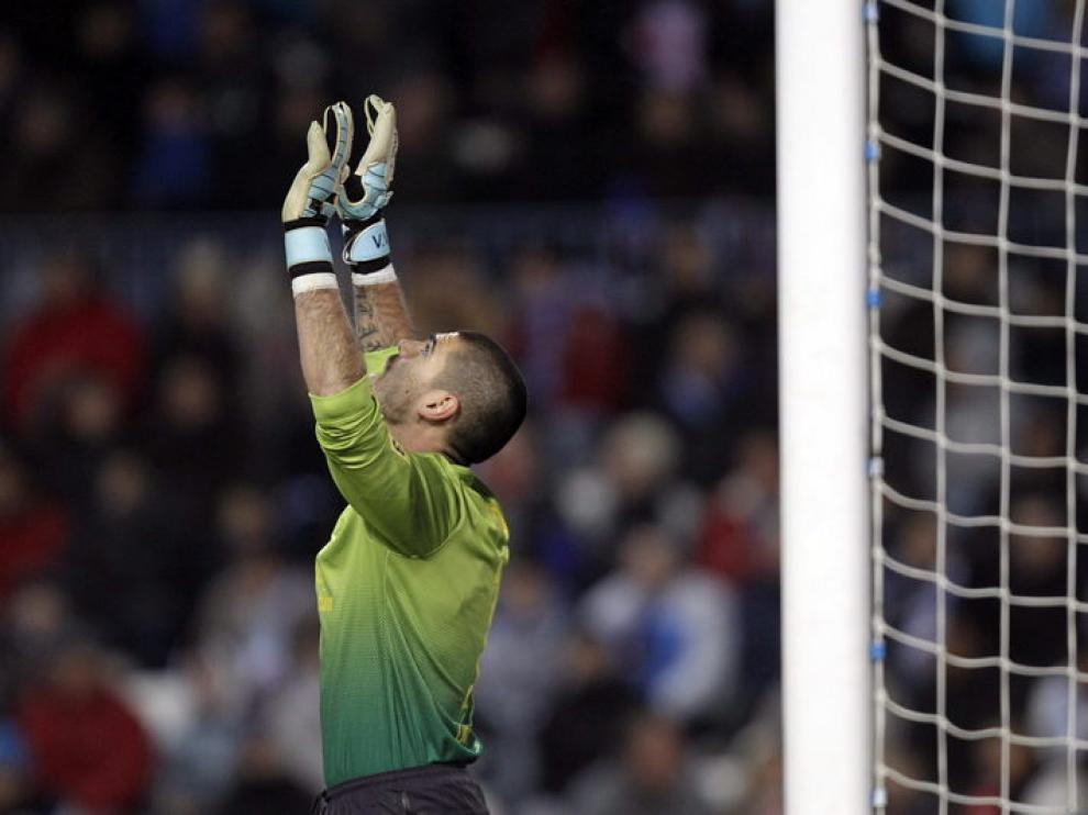 Valdés, portero del Barcelona