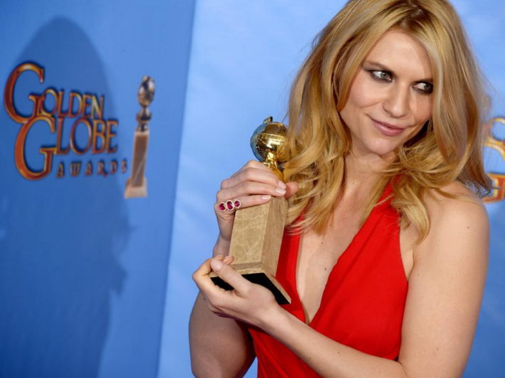 La actriz Claire Danes obtuvo el galardón a la mejor actriz por su papel en 'Homeland'.