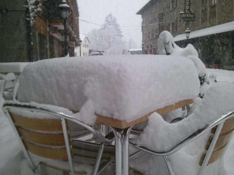 Nieve en Benasque