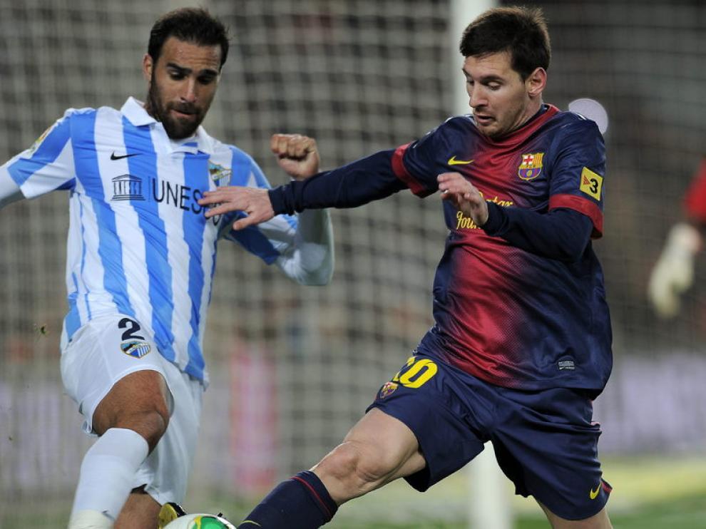 Jesús Gámez y Lionel Messi