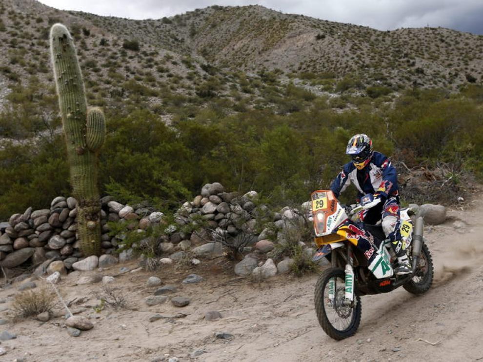 Kurt Caselli fue el ganador de la etapa en motos
