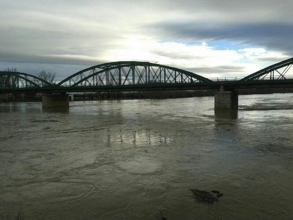El Ebro a su paso por Gallur