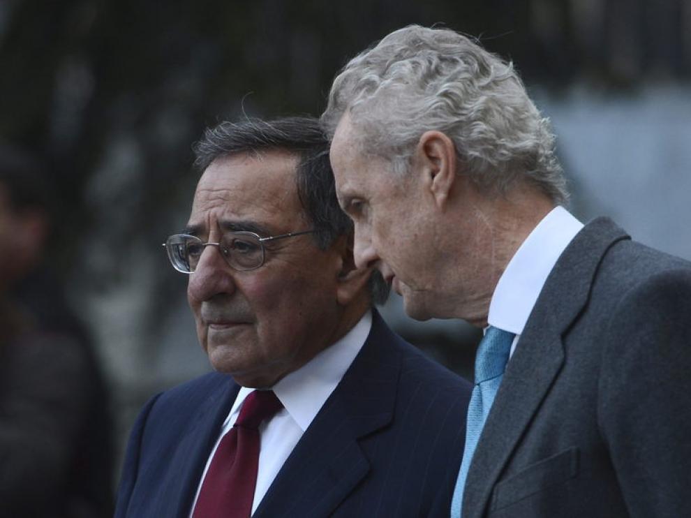 Panetta y Morenés duarante la visita oficial del secretario de Defensa estadounidense a España.