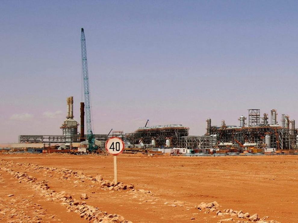 Planta de gas en Argel, donde permanecen secuestrados al menos 40 extranjeros.