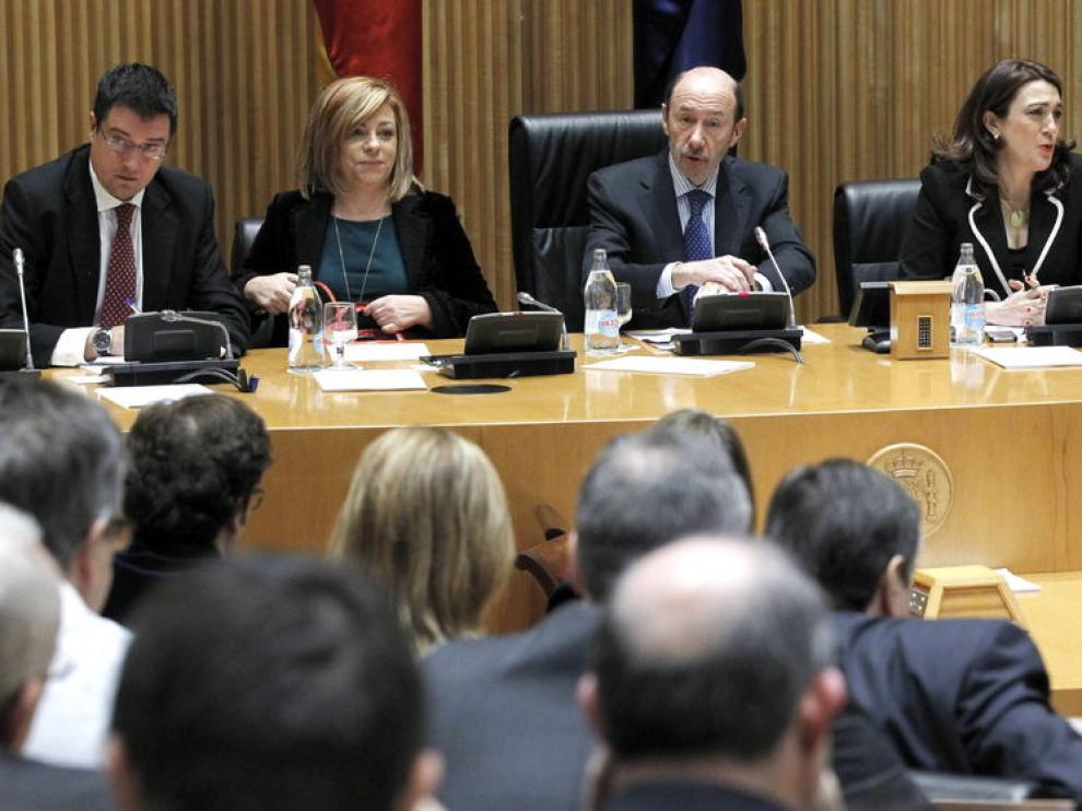 Reunión del grupo parlamentario del PSOE en el Congreso.