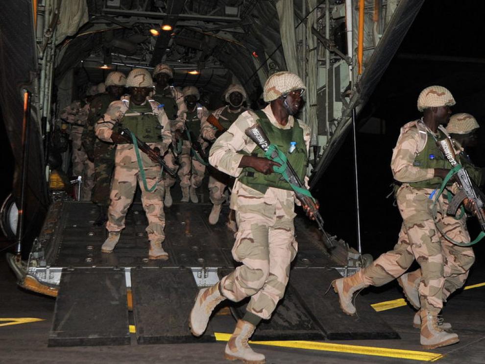 Llegada de las tropas togolesas a Mali