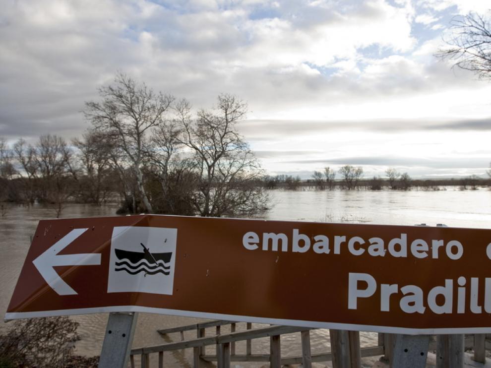 Crecida del Ebro en Pradilla