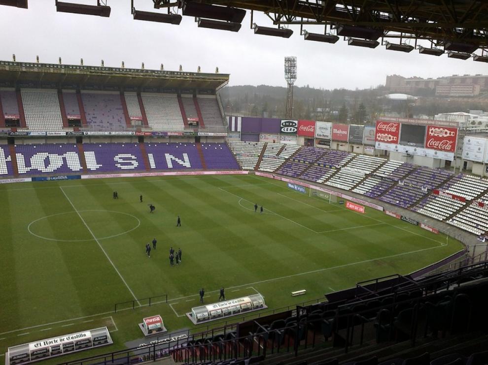 Estadio del Valladolid minutos antes del inicio