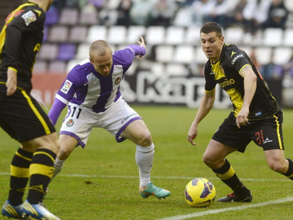 El Zaragoza hizo un pobre partido en Pucela