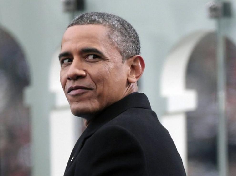 Obama, en un momento del acto de investidura.