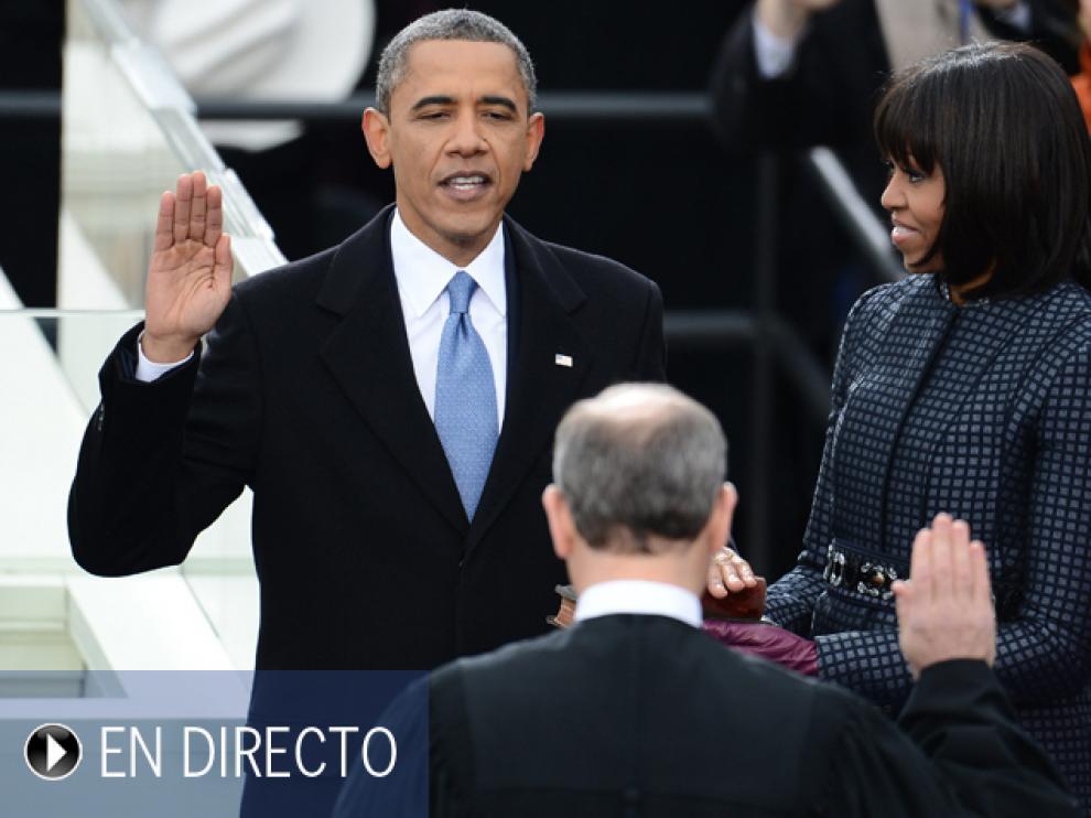 Obama jura por segunda vez su cargo