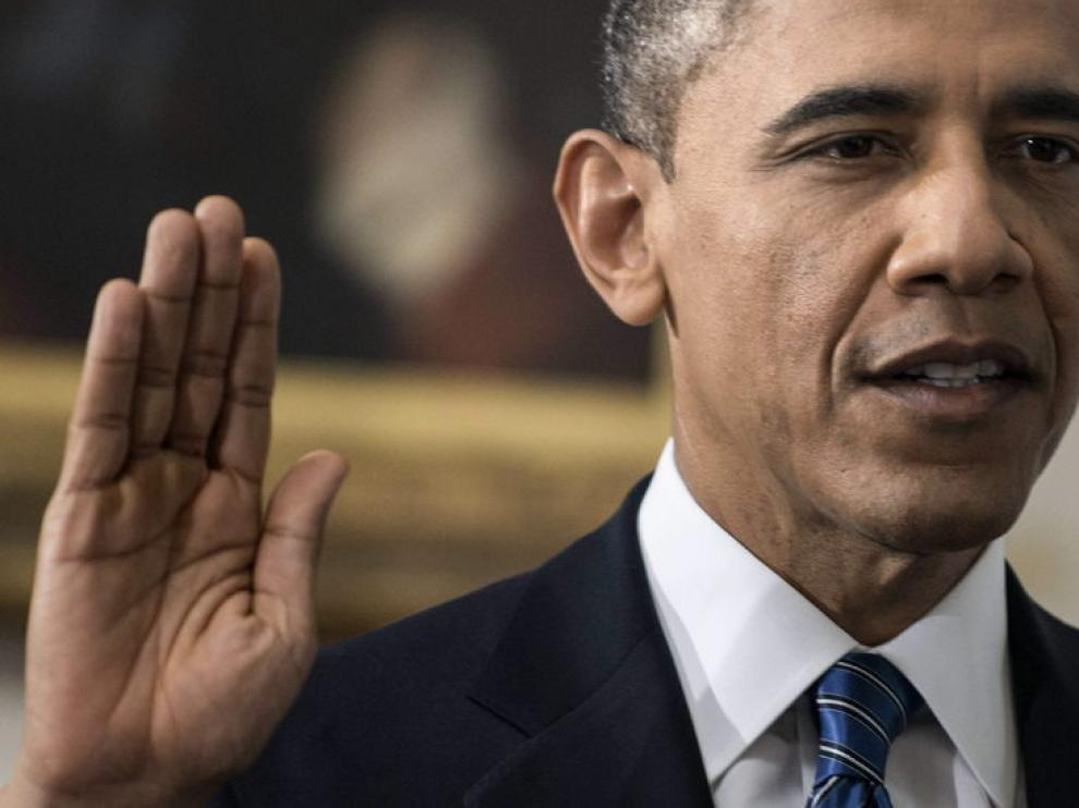 Barack Obama juró su cargo este domingo en un acto íntimo en Washington
