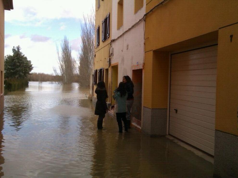 Crecida del Ebro en Novillas