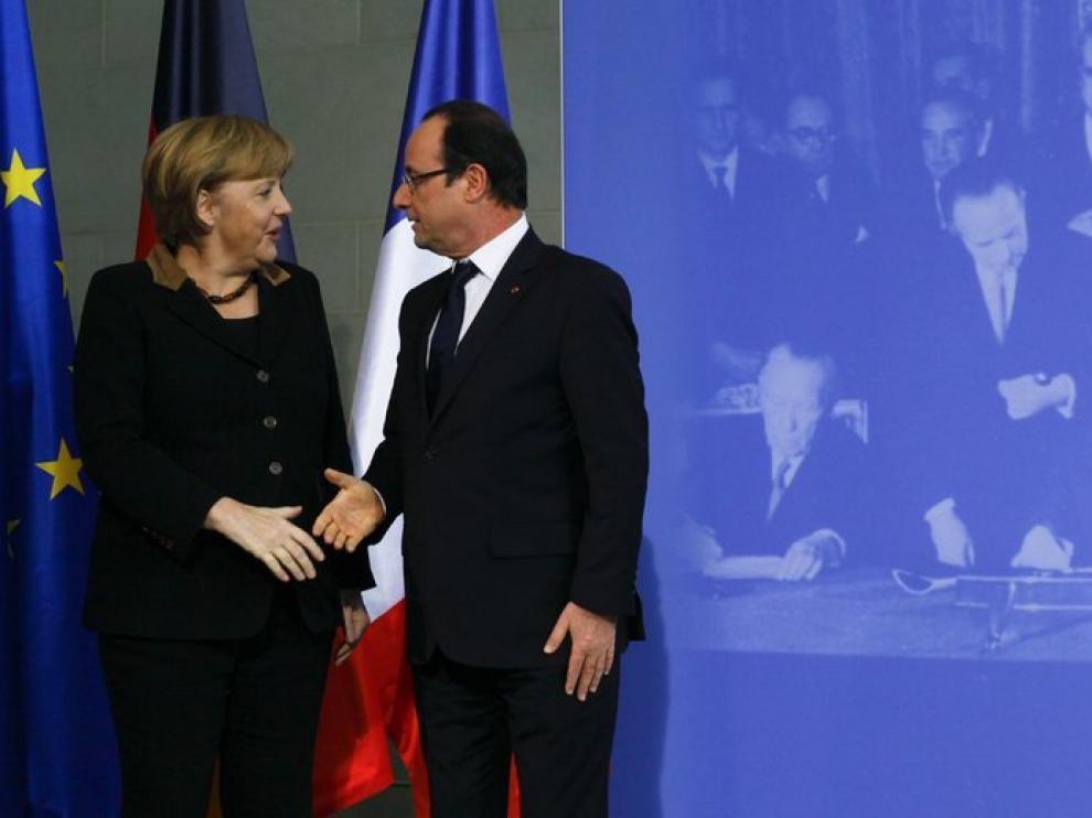 Merkel y Hollande se reúnen con motivo del 50 aniversario del Tratado del Elíseo
