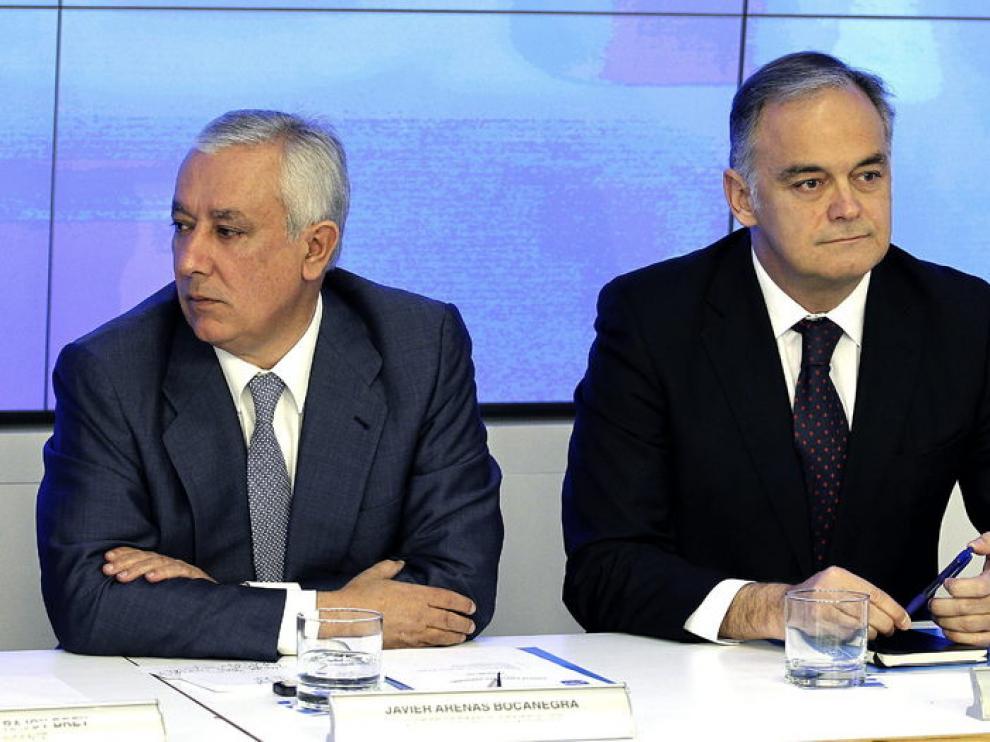 Javier Arenas y Esteban González Pons