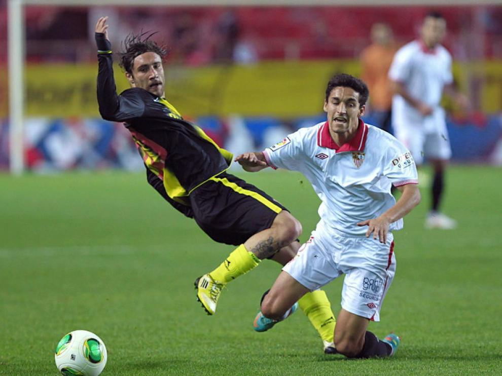 Imagen del Sevilla-Real Zaragoza de este miércoles