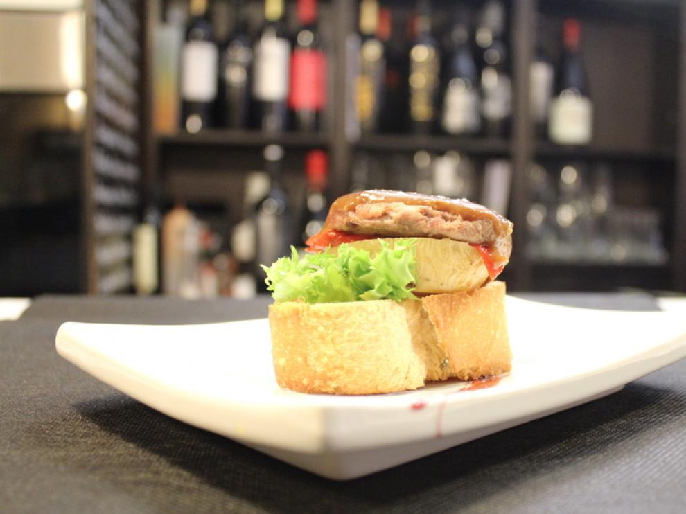 Mini-hamburguesa de potro de la taberna El Broquel