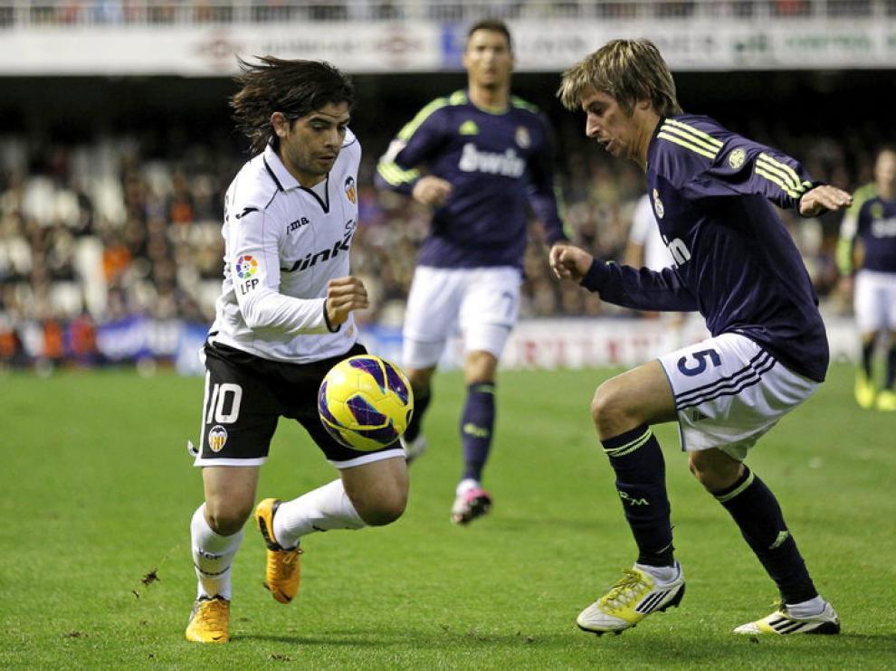 Partido entre el Valencia y el Real Madrid