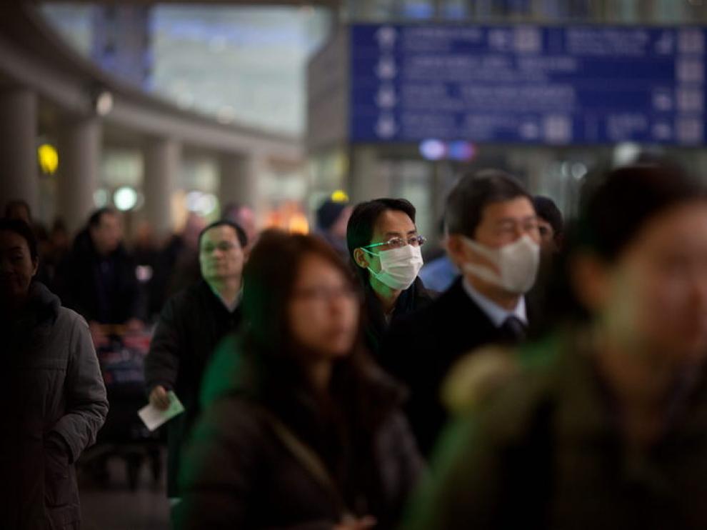 Viajeros en el aeropuerto de la capital china