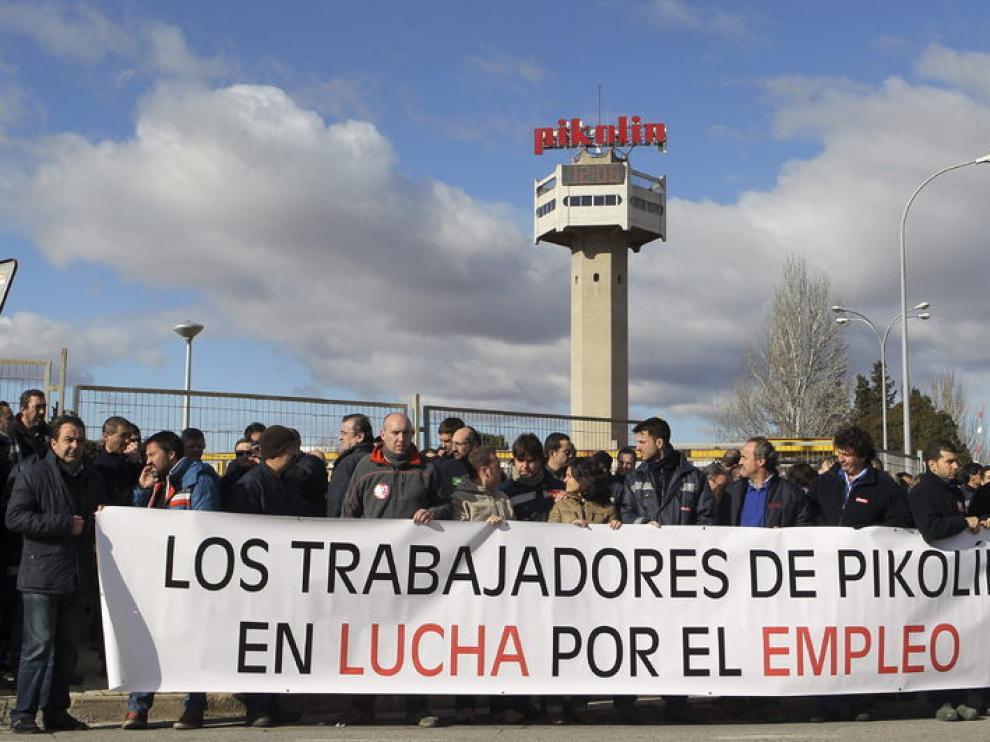 Concentraciones de los trabajadores de Pikolín contra el ERE de la empresa.