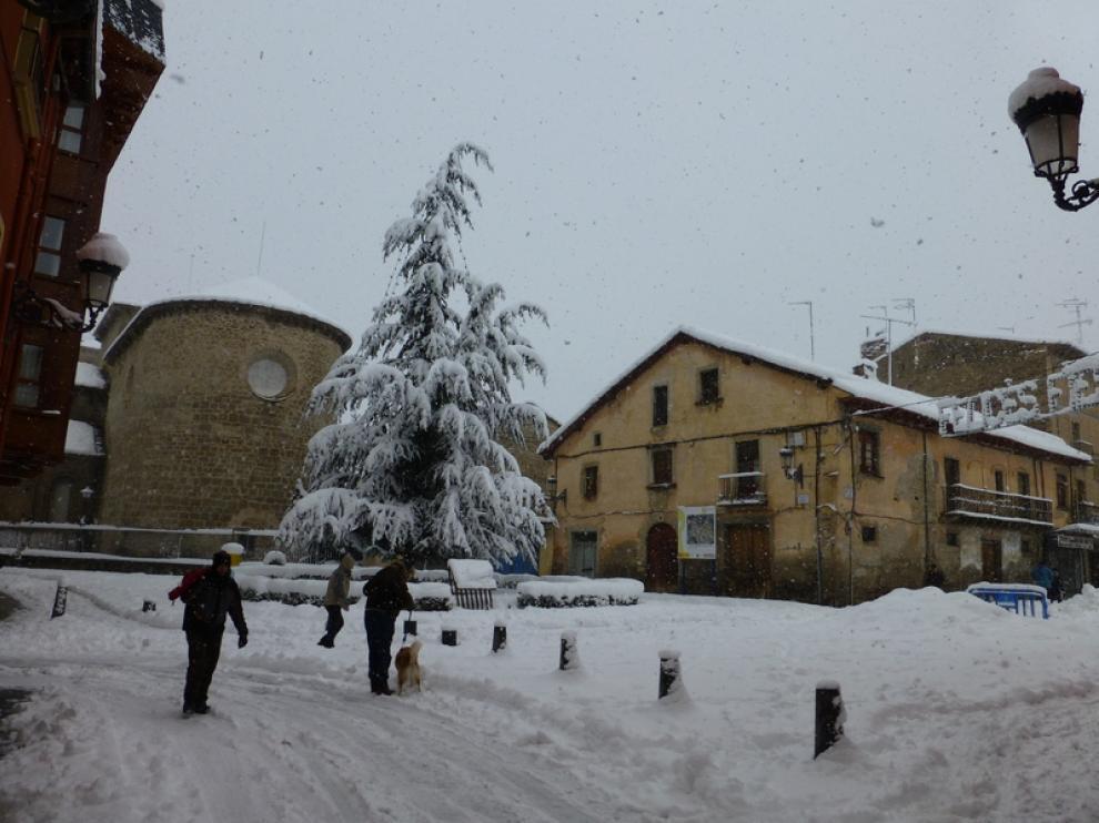 Nieve en Jaca