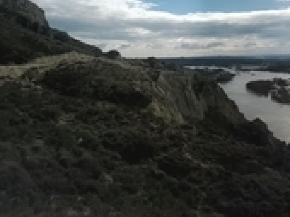 Imagenes de la crecida del Ebro