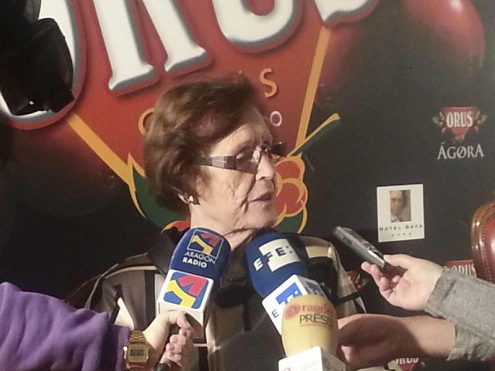 """Cecilia Giménez, la anciana de Borja que saltó a la fama por la """"restauración"""" fallida del Eccehomo."""