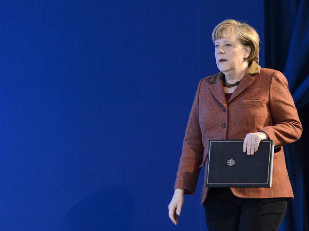 Angela Merkel en Davos