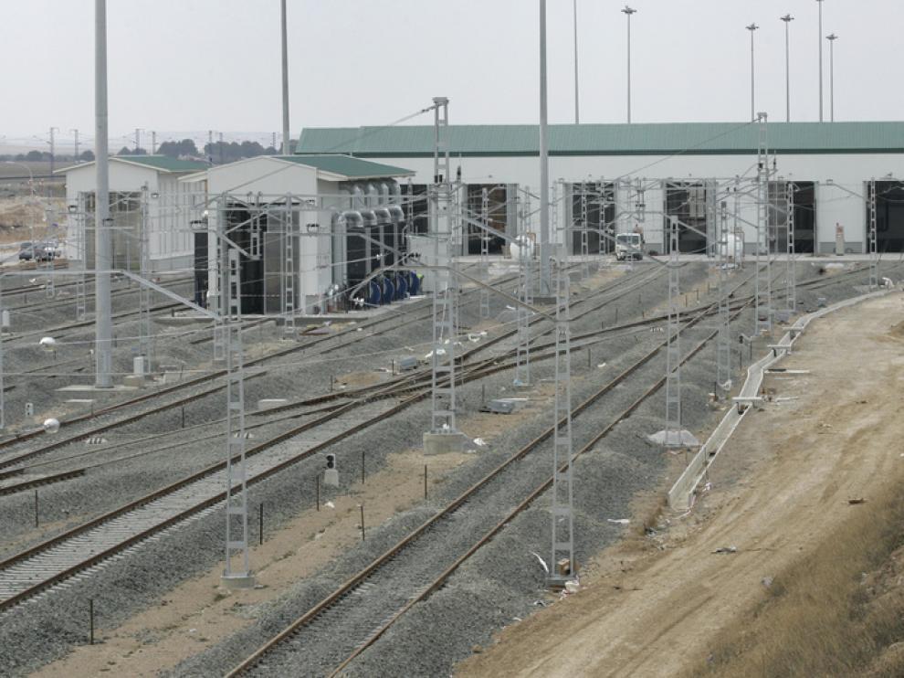 Parte de la infraestructura, durante su construcción