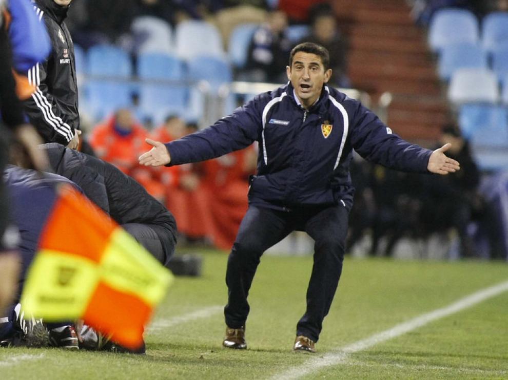 Manolo Jiménez, en el duelo con el Espanyol