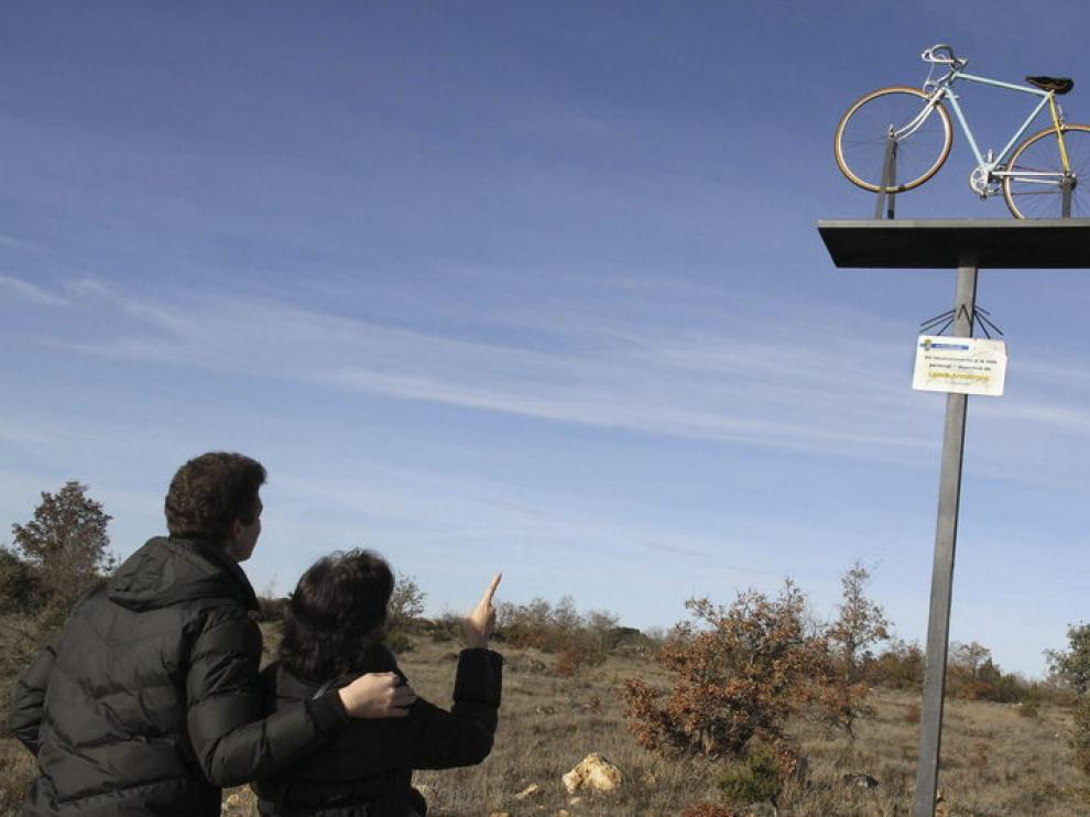 En este lugar Armstrong  se cayó en la Vuelta Ciclista a Castilla y León en 2009