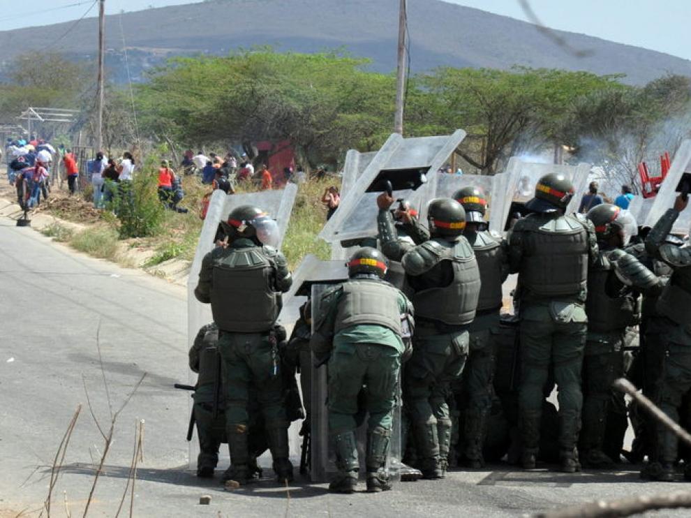 Imagen de la operación tras el motín en la cárcel de Venezuela