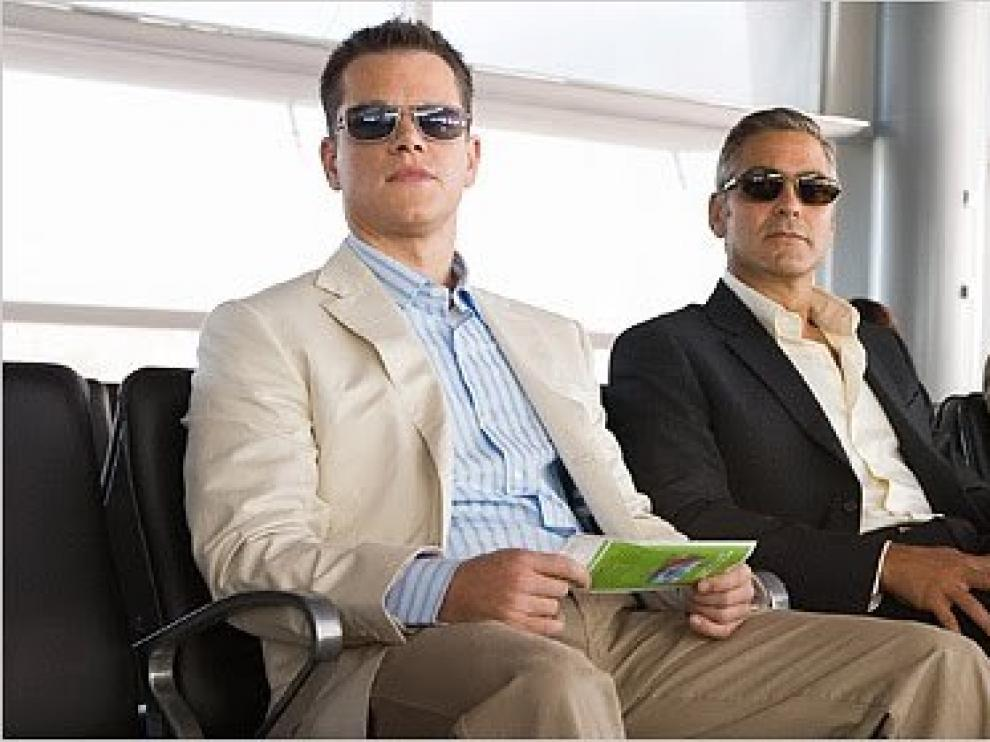 Matt Damon, George Clooney y Brad Pitt