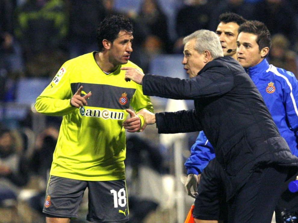 Aguirre durante el partido