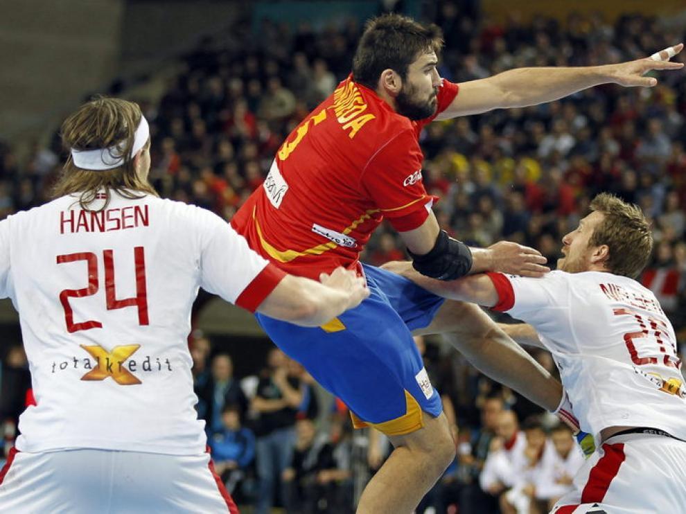 Partido entre España y Dinamarca