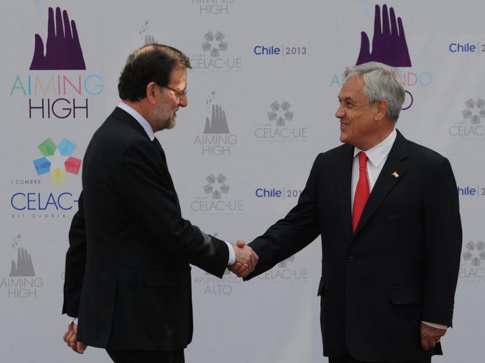 Mariano Rajoy y Sebastián Piñera