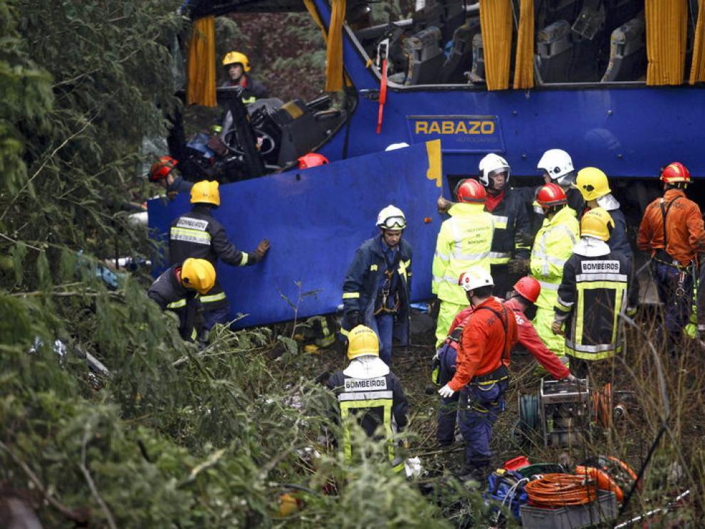 Accidente de tráfico en Portugal