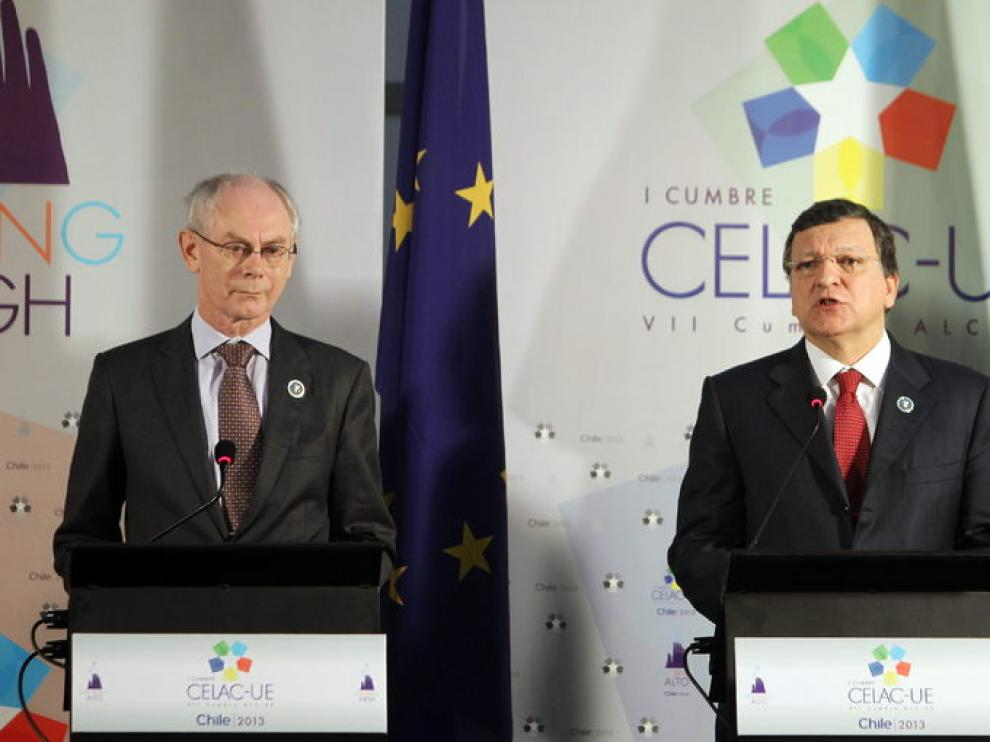 Los presidentes del Consejo Europeo, Herman Van Rompuy; y de la Comisión Europea, José Manuel Durao Barroso.