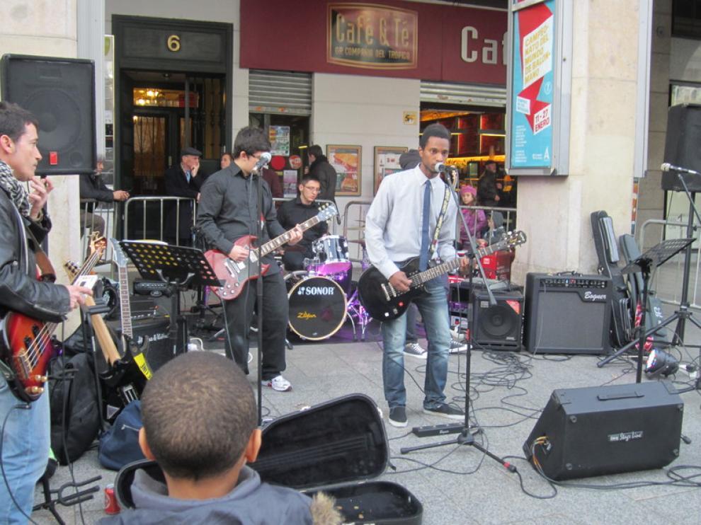 Uno de los grupos que han participando en esta edición del Roscón Rock.