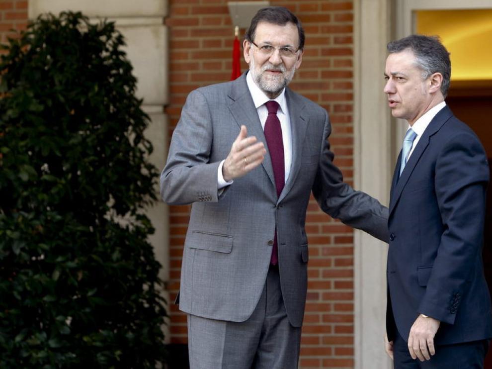 Urkullu y Rajoy, en una imagen de archivo