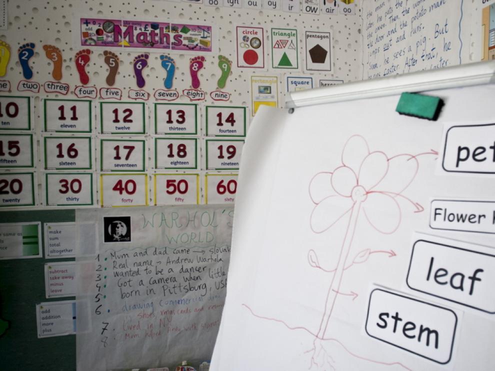 Imagen de un colegio público bilingüe de Zaragoza