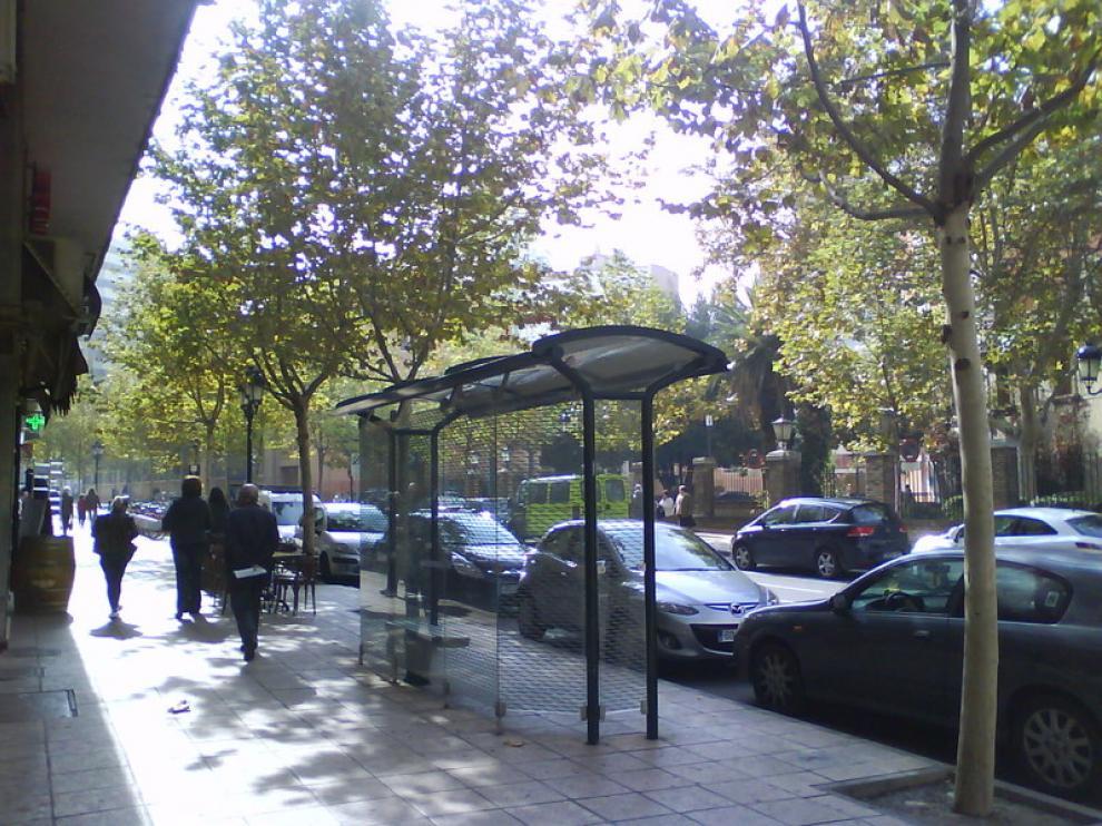 Antigua parada frente al Hospital Provincial del autobús de Movera