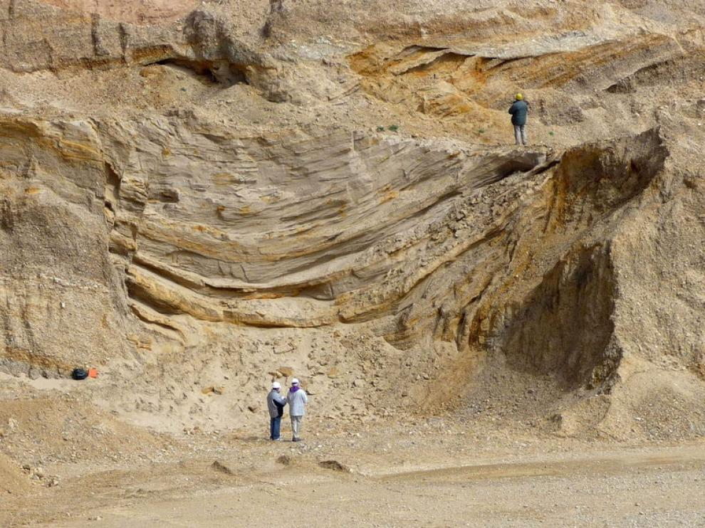 Imagen del hallazgo de dunas eólicas
