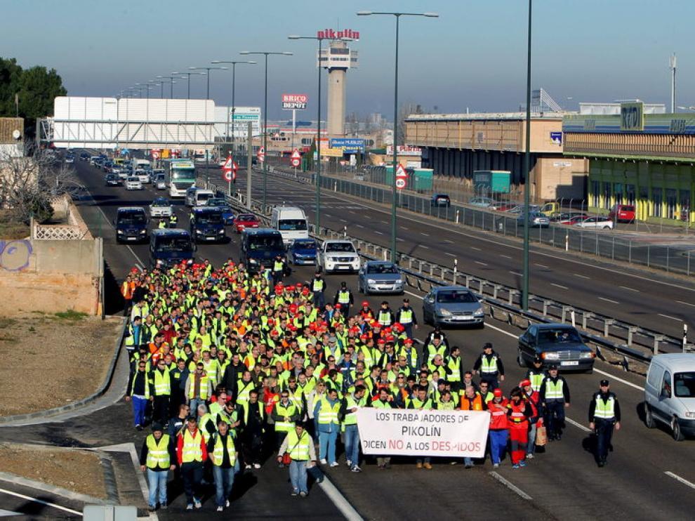 Marcha de los trabajadores de Pikolin