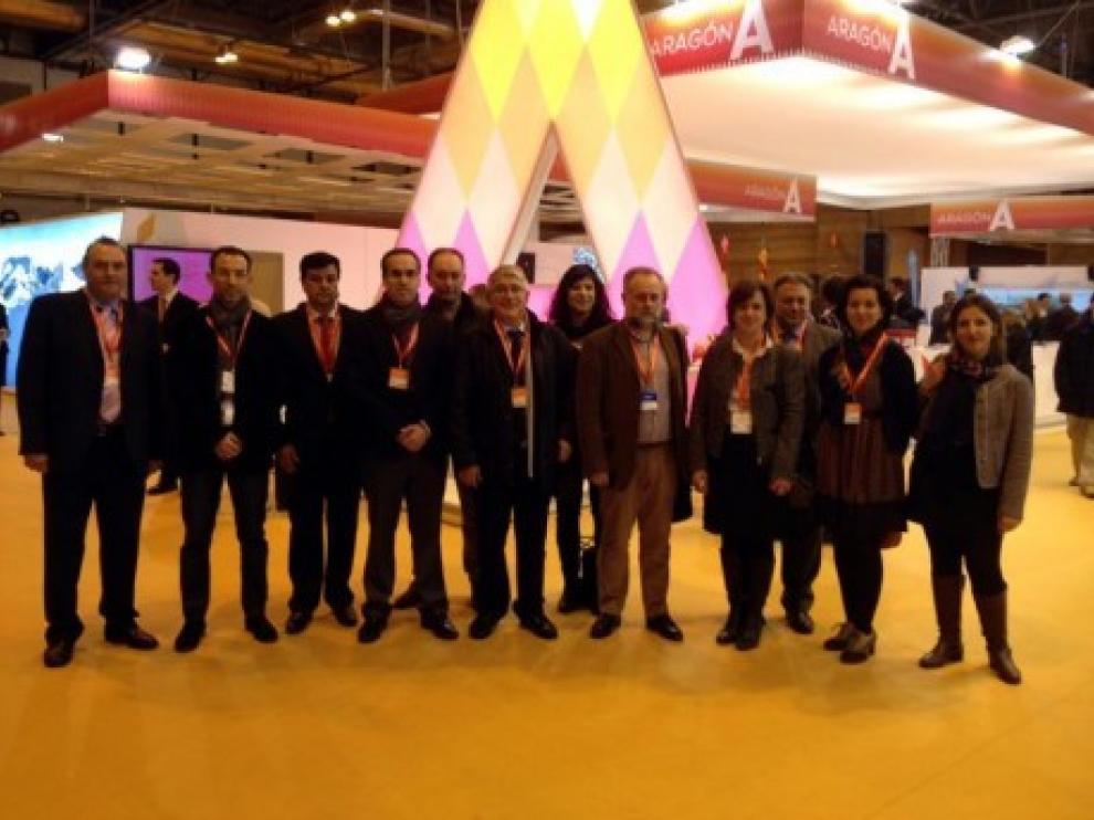 La reunión se ha celebrado  en el stand de Aragón en Fitur