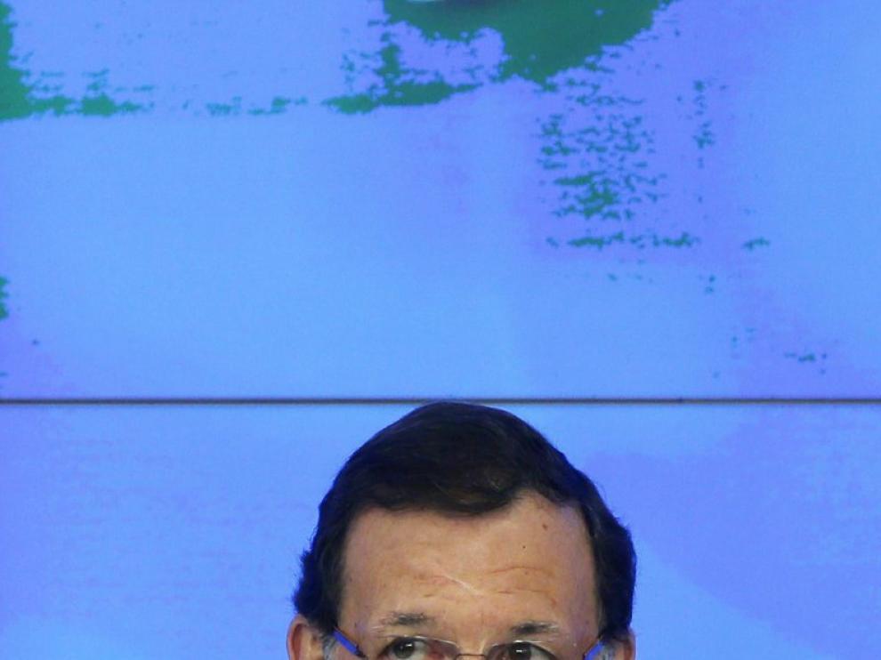 Mariano Rajoy, presidente del Partido Popular, durante el Comité Federal