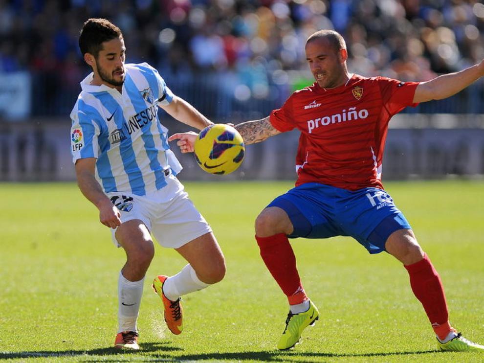 Imágenes del partido entre el Málaga y el Real Zaragoza.