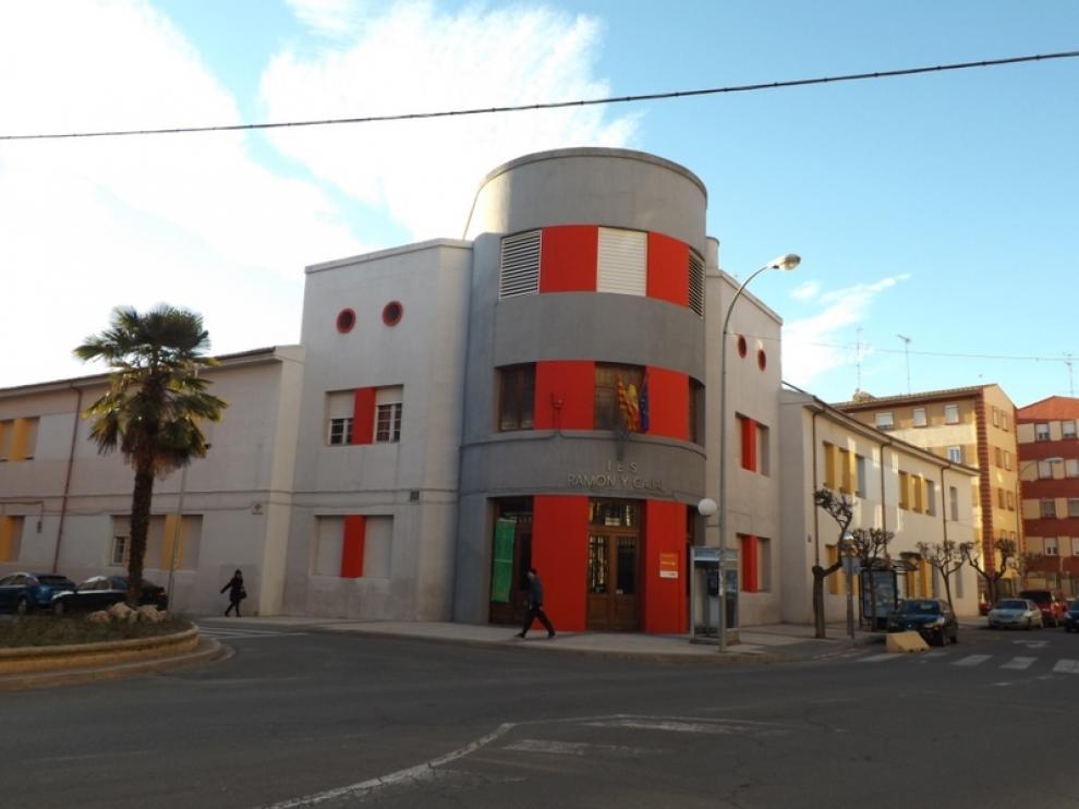 El IES Ramón y Cajal, en la capital oscense.